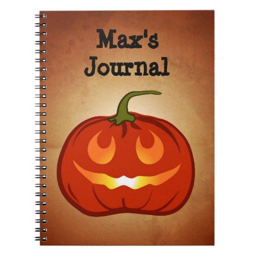 Smiling Pumpkin Notebook