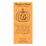 Smiling Pumpkin. Rack Card Template