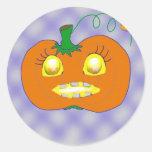 Smiling pumpkin stickers