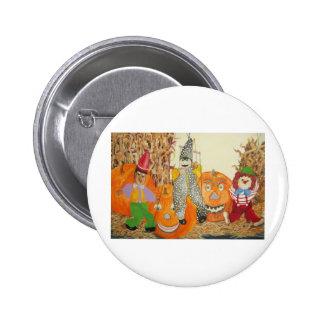 smiling pumpkins button