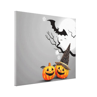 Smiling Pumpkins Canvas Print