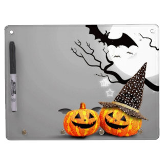 Smiling Pumpkins Dry Erase Board With Keychain Holder