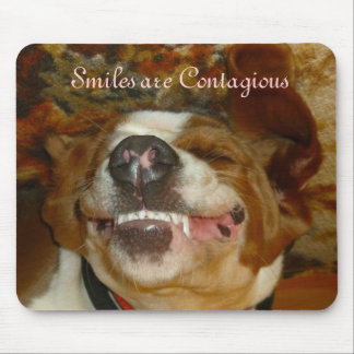smiling pup mousepad