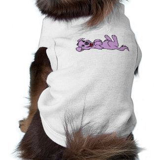 Smiling Purple Puppy Dog Roll Over Tee