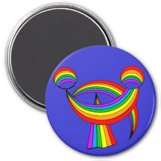 Smiling Rainbow Tattoo Magnet