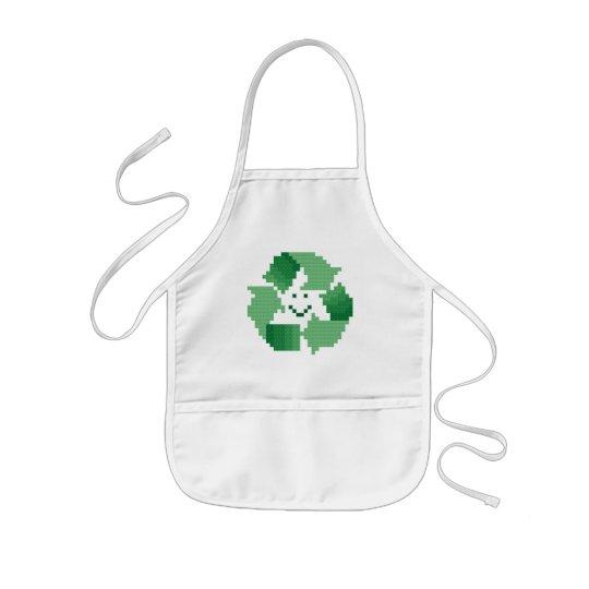 Smiling Recycle Symbol Kid's Apron