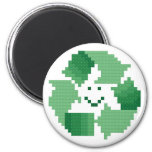 Smiling Recycle Symbol Magnet
