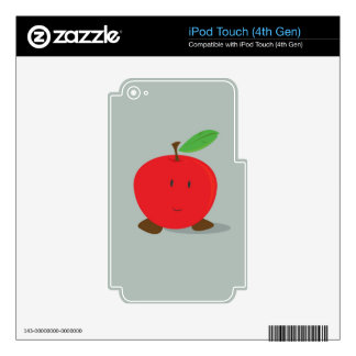 Smiling red apple iPod touch 4G decal