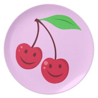 Smiling Red Cherries Dinner Plate