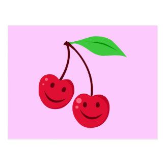 Smiling Red Cherries Postcard