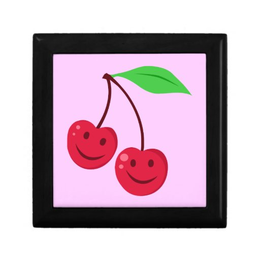 Smiling Red Cherries Trinket Boxes