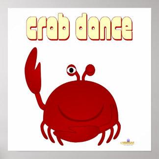 Smiling Red Crab Crab Dance Poster