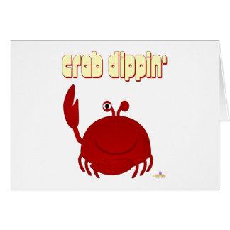 Smiling Red Crab Crab Dippin' Card