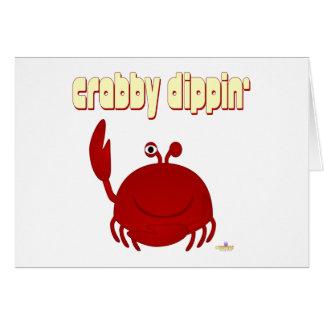 Smiling Red Crab   Dippin' Card