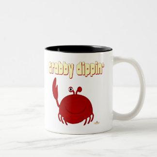 Smiling Red Crab   Dippin' Two-Tone Coffee Mug