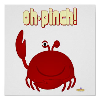 Smiling Red Crab Oh Pinch Print