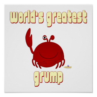 Smiling Red Crab World s Greatest Grump Poster