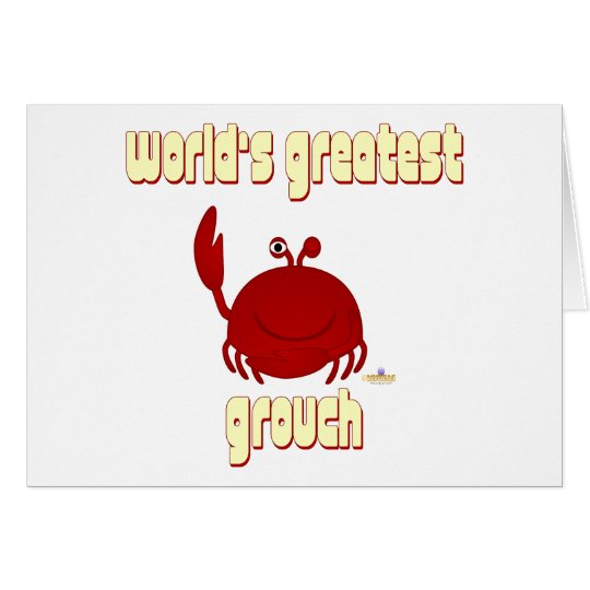 Smiling Red Crab World's Greatest Grouch Card