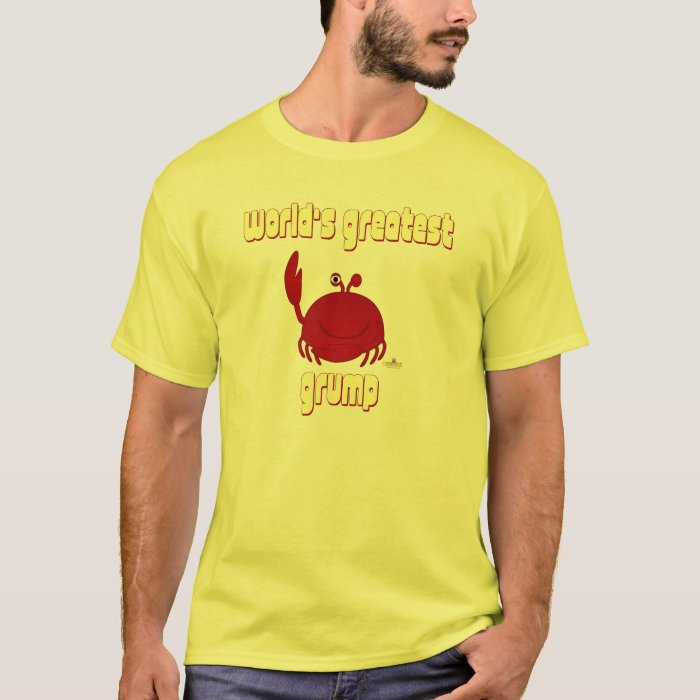Smiling Red Crab World's Greatest Grump T-Shirt