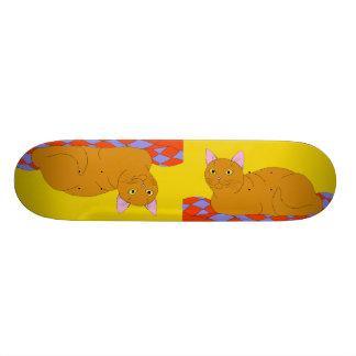 Smiling Red Kitty Skateboard