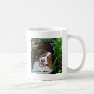 Smiling Red Tri Aussie Coffee Mug