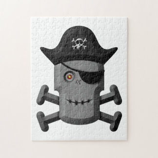 Smiling Robot Pirate Jolly Roger Puzzles