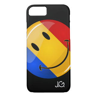 Smiling Romanian Flag iPhone 7 Case