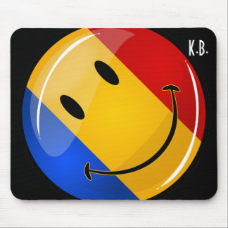 Smiling Romanian Flag Mouse Pad