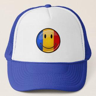 Smiling Romanian Flag Trucker Hat