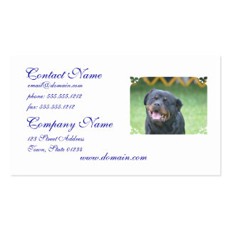 Smiling Rottweiler Business Card Template