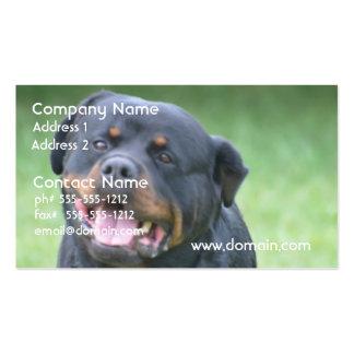 Smiling Rottweiler Business Card