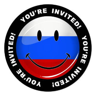 Smiling Russian Flag Card