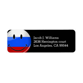 Smiling Russian Flag Label