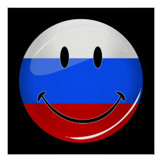 Smiling Russian Flag Poster