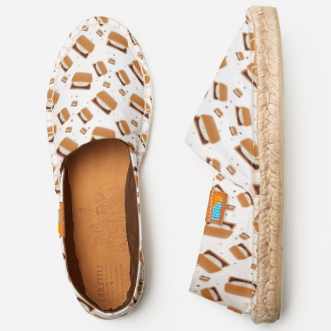 Smiling S'more Characters with Dots Espadrilles