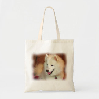 Smiling Samoyed Digital Oil Painting Effect Tote Bags
