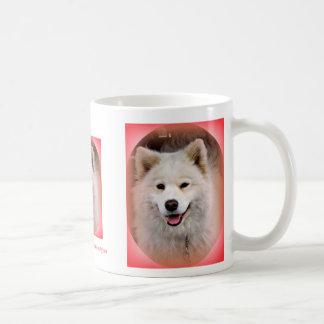 Smiling Samoyed dog mug