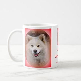 "Smiling Samoyed ""Wake up with a smile!!!"" Coffee Mugs"
