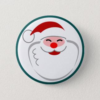 Smiling Santa Button