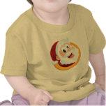 Smiling Santa Button T Shirt