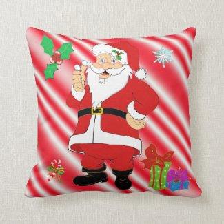 Smiling Santa Christmas Pillow