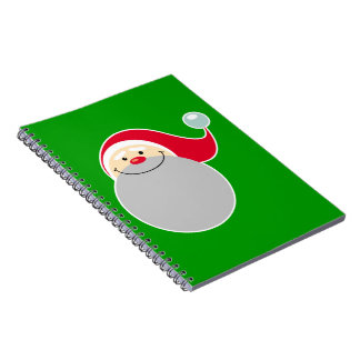Smiling Santa Spiral Note Book