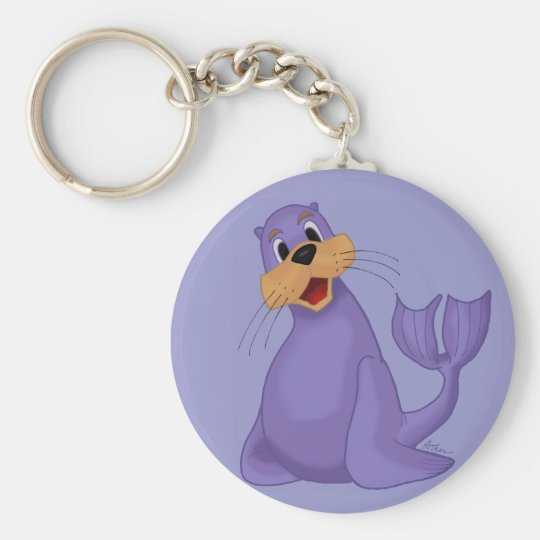 Smiling Sea Lion Keychain