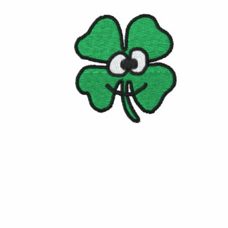 Smiling Shamrock Embroidered Polo