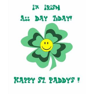 Smiling Shamrock St. Patrick's Day T-Shirt shirt