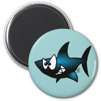 Smiling Shark 2 Inch Round Magnet
