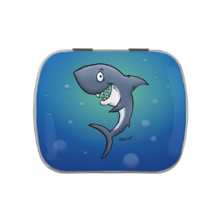 Smiling Shark Cartoon Candy Tin