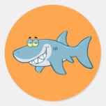 Smiling Shark Classic Round Sticker