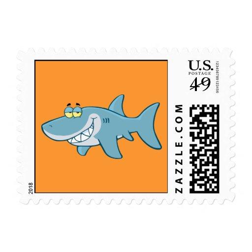 Smiling Shark Postage Stamp