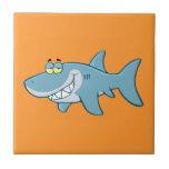 Smiling Shark Small Square Tile